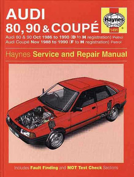 AUDI 80, 90 & Coupe 1986-1990 Repair Manual