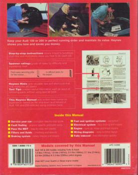 AUDI 100 & 200 1982-1990 Repair Manual