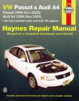 Volkswagen VW Passat (1998-2005) & Audi A4 1.8L turbo & 2.8L V6 (1996-2001) Haynes Workshop Manual (USA) (9781563927034)