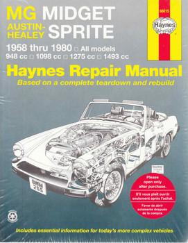 MG Midget & Austin Healey Sprite 1958 - 1980 Workshop Manual - front