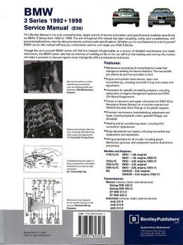 BMW 3 Series E36 1992 - 1998 Workshop Manual