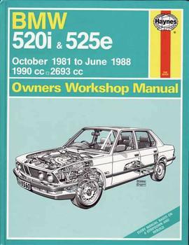 BMW 520i & 525e 1981 - 1988 Workshop Manual