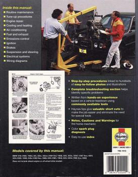BMW 3 Series (E30) and 5 Series (E28, E34) 1982 - 1992 Workshop Manual