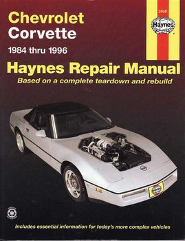 Chevrolet Corvette 1984 - 1996 Workshop Manual