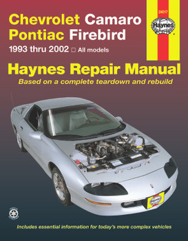 Chevrolet Camaro Pontiac Firebird 1993 - 2002 Workshop Manual (USA) (9781563925566)