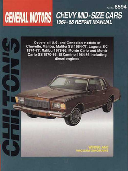Chevy Mid-Size Cars 1964 - 1988 Workshop Manual