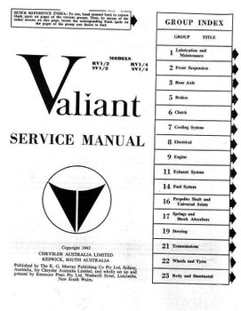 Valiant R and S 1961 - 1963 Workshop Manual