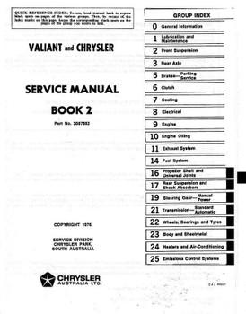 Valiant VK Series 1975 Workshop Manual (Book 2)