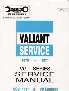 Valiant VG Series 1970 - 1971 Workshop Manual
