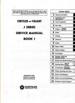 Chrysler | Valiant VJ (J) Series 1973 - 1975 Workshop Manual