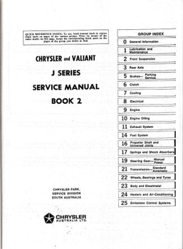 Chrysler | Valiant VJ (J) Series 1973 - 1975 Workshop Manual (Book 2)