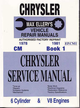 Chrysler CM 1978 - 1981 Workshop Manual (Book 1)