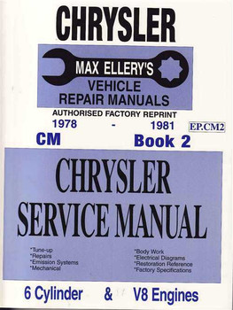 Chrysler CM 1978 - 1981 Workshop Manual (Book 2)