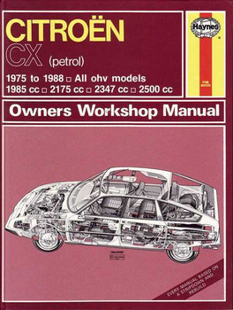 Citroen CX 1975 - 1988 Workshop Manual