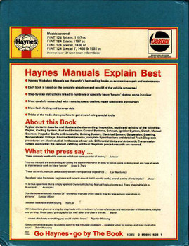 Fiat 124 Saloon & Estate 1966 - 1975 Workshop Manual
