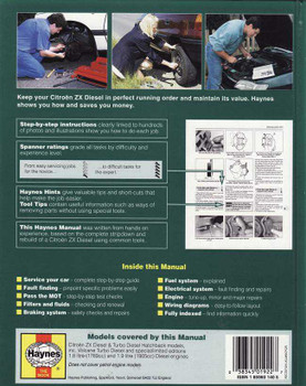 Citroen ZX (diesel) 1991 - 1993 Workshop Manual