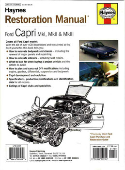 Ford Capri MKI, MKII & MKIII Restoration Manual