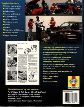 Ford Telstar, TX5 & Mazda 626 1983 - 1990 Workshop Manual