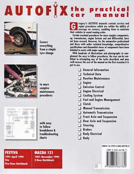 Ford Festiva & Mazda 121 1987 - 1994 Workshop Manual