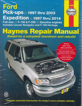 Ford Pick - Ups and Expedition, Full-size, F-150, F-250 1997 - 2014 Workshop Manual