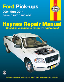 Ford full-size petrol pick-ups F-150 2WD & 4WD 2004 - 2014 Workshop Manual (USA) (9781620920947)