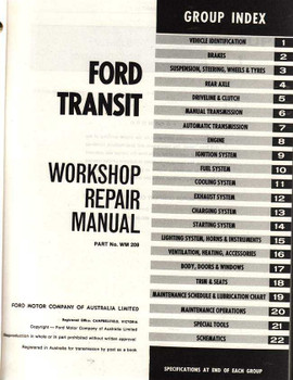 Ford Transit Workshop Manual