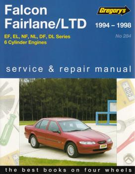 Ford Falcon, Fairlane, LTD EF, EL, NF, NL, DF, DL Series 6 Cylinder 1994 - 1998 Workshop Manual