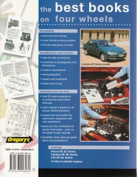 Ford Falcon, Fairlane, LTD EF, EL, NF, NL, DF, DL Series 6 Cylinder 1994 - 1998 Workshop Manual back cover