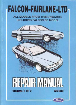 Ford Falcon and Fairlane LTD Workshop Manual