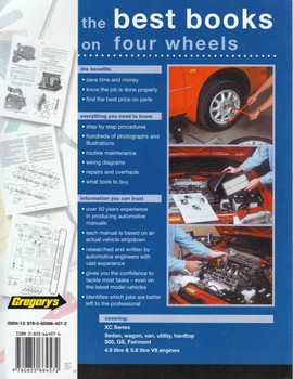 Ford Falcon Fairmont XC 8 Cylinder 1976 - 1979 Workshop Manual (9780855664572) (back)