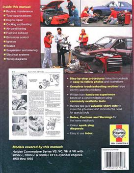 Holden Commodore VB, VC, VH & VK 6 Cylinder 1978 - 1985 Workshop Manual