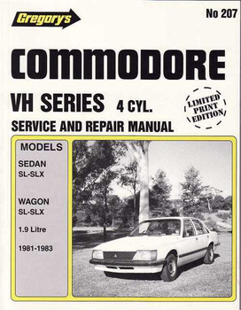 Holden Commodore VH Series 4 Cylinder 1981 - 1983 Workshop Manual