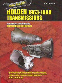 Transmission Repair Manual Holden's 1963 - 1988
