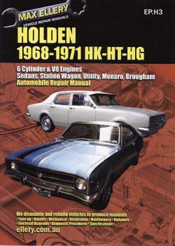 Holden HK - HT - HG 1968 - 1971 Workshop Manual