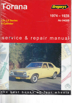 Holden Torana LH - LX 1974 - 1978 Workshop Manual  - front