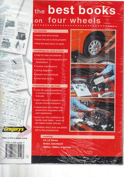Holden Torana LH - LX 1974 - 1978 Workshop Manual  - back