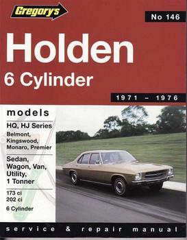 Holden HQ, HJ, 6 Cylinder 1971 - 1976 Workshop Manual