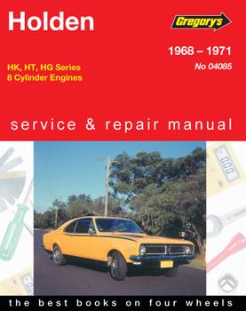 Holden Belmont, Kingswood, Monaro, Premier, 8 Cylinder, (68 - 71) Gregorys Repair Manual