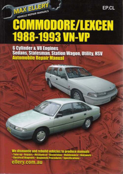 Holden Commodore & Toyota Lexcen VN VP 1988 - 1993 Workshop Manual