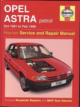 Holden Astra (Opel) Petrol 1991 - 1998 Workshop Manual