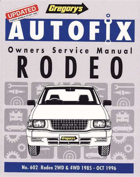 Holden Rodeo 2WD, 4WD Petrol 1985 - 1996 Workshop Manual