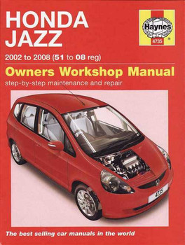 Honda Jazz 2002 - 2008 Workshop Manual