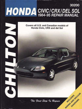 Honda Civic, CRX, DEL SOL 1984 - 1995 Workshop Manual