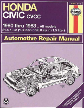 Honda Civic CVCC 1980 - 1983 Workshop Manual