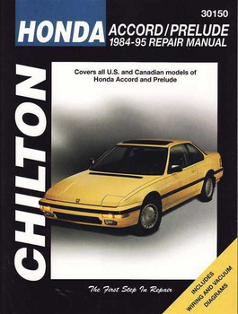 Honda Accord, Prelude 1984 - 1995 Workshop Manual
