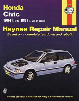 Honda Civic 1984 - 1991 Workshop Manual