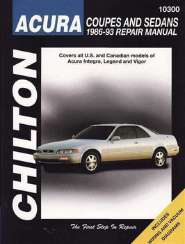 Honda (Acura) 1986 - 1993 Workshop Manual