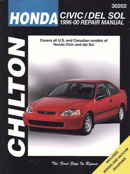 Honda Civic, DEL SOL 1996 - 2000 Worshop Manual
