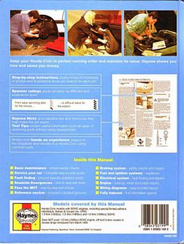 Honda Civic 1991 - 1996 Workshop Manual