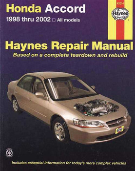 Honda Accord 1998 - 2002 Workshop Manual